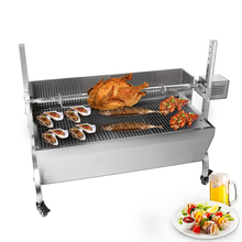 Multifunctional BBQ Grills Manual/Electric Pig Lamb Roaster Machine Barbecue For Outdoor Camping Stainless Steel Body