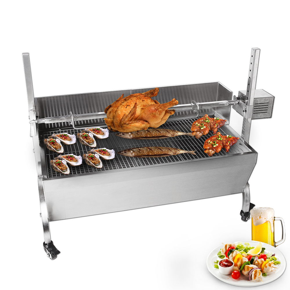 Multifunctional BBQ Grills Manual/Electric Pig Lamb Roaster Machine Barbecue Grills For Outdoor Camping Stainless Steel Body