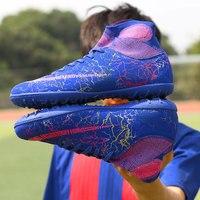 TF футбольные бутсы короткие шипы Мужская футбольная обувь кроссовки Крытый газон Futsal Мужская дышащая Спортивная обувь