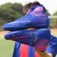 TF Soccer Cleats Boots Football Boots Short Spikes Men's Football Shoes Sneakers Indoor Turf  Futsal Men Breathable Sport Shoes цена
