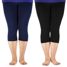 AZUE Women's 3/4 length Leggings Bamboo Fiber Plus Size Capr