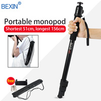 BEXIN Telescopic handheld Pole Walk Stick lightweight video dslr camera stand ball head monopod unipod for Canon Nikon Sony Fuji