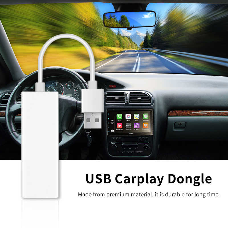 Plug and Play USB Carplay Dongle for Android Wince Gps navigation Support  Andriod and IOS Phone With Mirror Link Siri Function