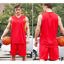 2016 new arrival men s breathable basketball training Jersey sets blank sport running t shirt uniforms
