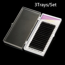 3cases All size,,High quality eyelash extension mink,individual eyelash extension,natural eyelashes,false eyelashes.