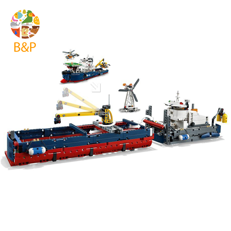 Legoing 42064 1347Pcs Technic Series The Searching Ship Model Building Blocks Bricks Gifts Toys compatible 20034 lego technic исследователь океана 42064