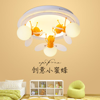 Simple modern children's bedroom male LED bedroom warm personality cartoon ceiling lamp