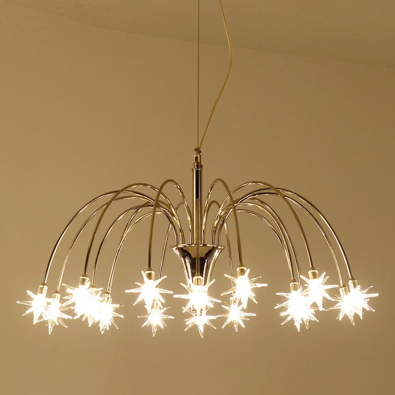 Здесь продается  modern led meteor shower star pendant light Restaurant  bar  coffee shop hanging lamps light  Свет и освещение