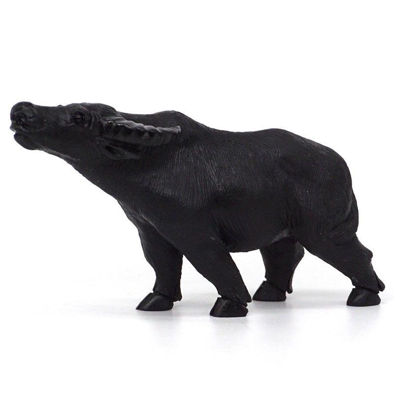 Cow Figurine Natural Gemstone Black Obsidian Carved Crystal Healing Home Decor figurine