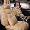 Conjunto completo de 5 tampas de Assento Do carro 3D outono e inverno quente de pelúcia tampas de assento para todos os homens e mulheres protetor de assento de carro coxim do carro 4 cores