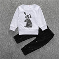 Geometric rabbit printing Infant Clothes Baby Clothing Sets household 2pcs/set long sleeve baby boy girl clothes