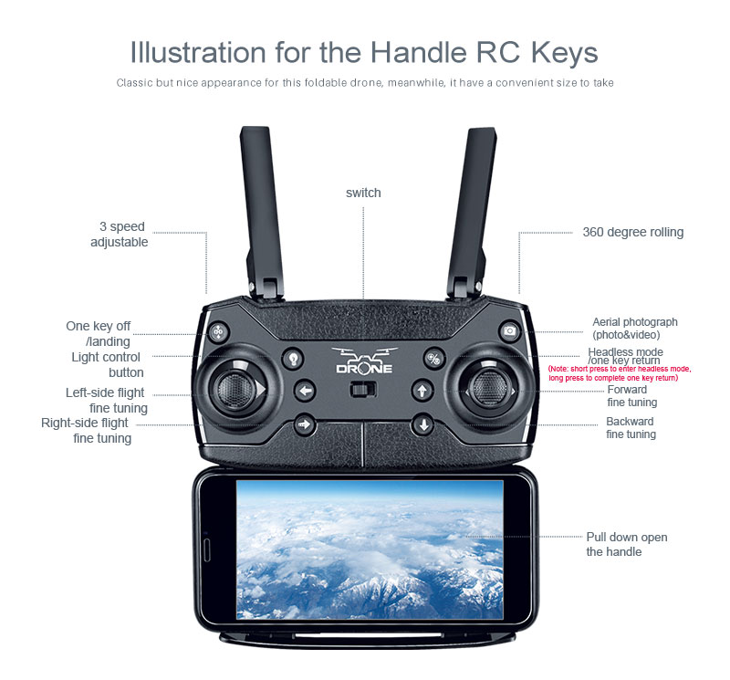 New RC Helicopter KY601S Drone with Camera HD 1080P WIFI FPV RC Drone Professional Foldable Quadcopter  Minutes Battery Life 18