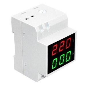 Display DIN RAIL Rood Groen AC80-300V 200-450V 0.2-99.9A Digitale AC Voltmeter Alternationg Voltage Current Meter
