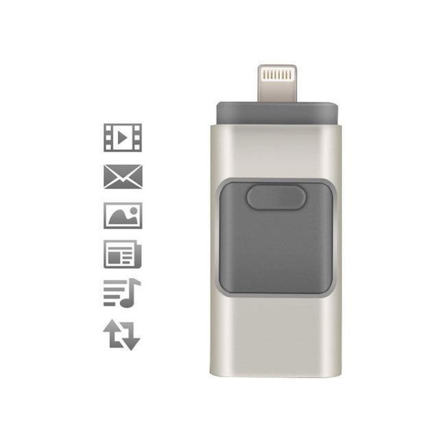 Nuevo 16 gb usb flash drive u disco otg memory stick para iphone y ipad para ipod y android pc