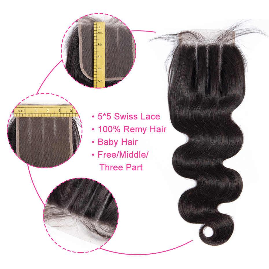 Gabrielle remy hair 5x5, бразильские волнистые волосы, натуральный цвет, 8-22 дюйма, человеческие волосы, свободные/Средние/три части, закрытие
