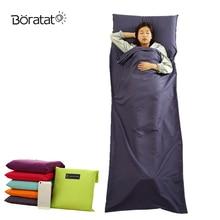 Сверхлегкий дизайн открытый спальный мешок 70*210 см Кемпинг пеший Туризм лайнер портативный для кемпинга складные дорожные сумки