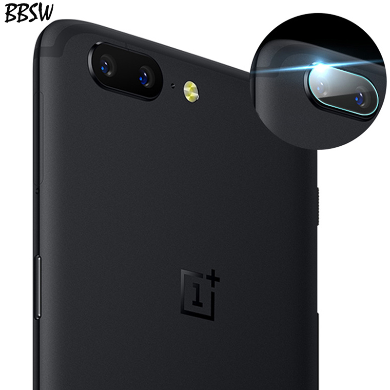 BBSW For Oneplus 5 5T One Plus 5 5T 3T 3 Tempered Glass Screen Protector de pantalla Back Camera Lens Full Cover Soft Film