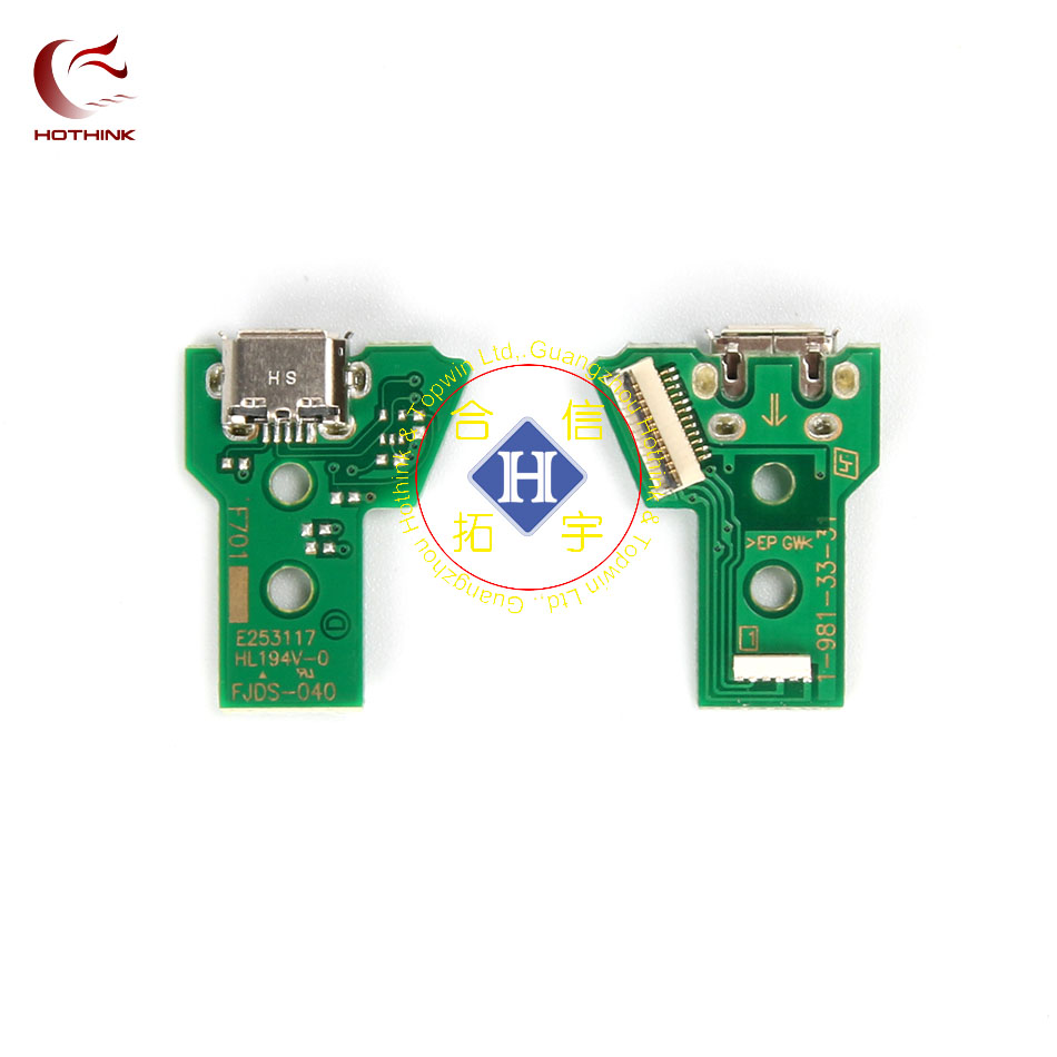 HOTHINK USB Charging Port Socket Board JDS-040 V 4.0 For PS4 Pro Controller Dualshock 4 Gamepad Repair Parts