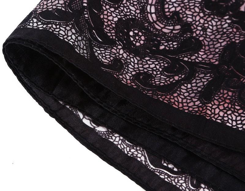 Roses Luxury Frame Silk Scarf | Bandana Scarves