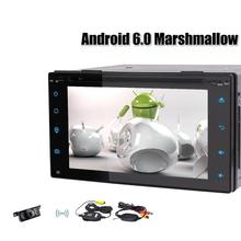 Android 6.0 2 Din Car Stereo RadioBluetooth DVD CD Player GPS Navigation Support MirrorLink, WIFI, USB SD Wireless Backup Camera