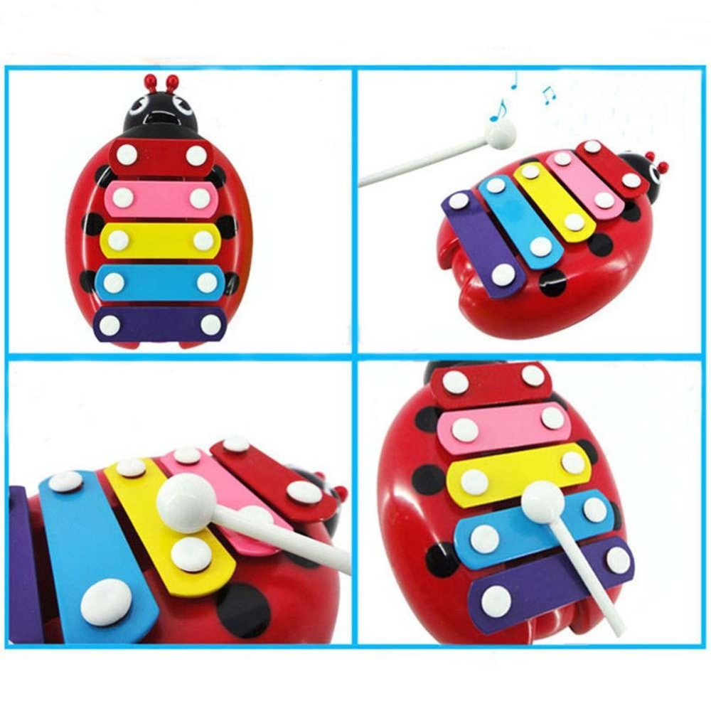 2017 Baby Child Kids 5-Note Xylophone Musical Toys Wisdom Development Beetlet educational musical toys Christmas gifts