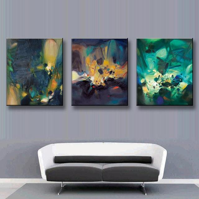 Office Wall Decor Set : Aliexpress buy pcs set modern abstract oil