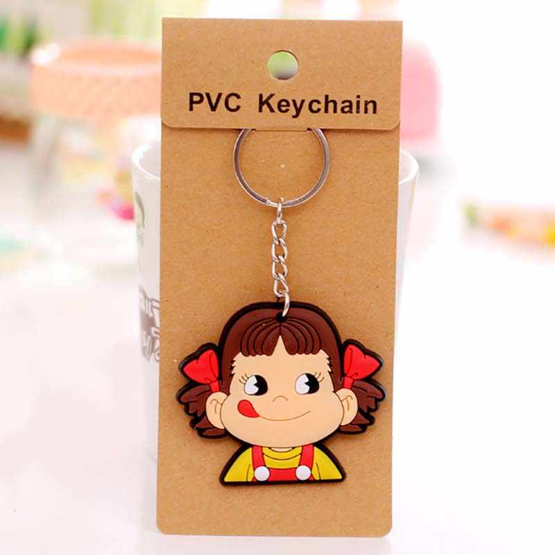 1 PCS bonito Dos Desenhos Animados Anime chaveiro tampa chave tampa do teclado de Silicone mulheres olá kitty Garfield Minnie Anel Chaveiro carro