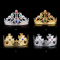 Bridal Princess Women Crystal Hair Accessories Tiara Crown Headband For Wedding Party Bridal Tiara Baroque Queen King Crown 4138