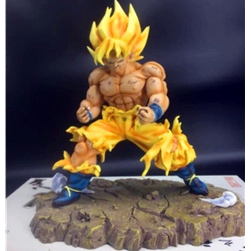 Dessin animé Dragon Ball Z Kakarotto fils Goku Super Saiyan résine Statue figurine Action Collection décoration G2623