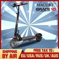 Macury GRACE10 электрический скутер GRACE 10 Ховерборд скейтборд 2 колеса 10 дюймов 52V1000W взрослый Zero 10 мини складной ZERO10