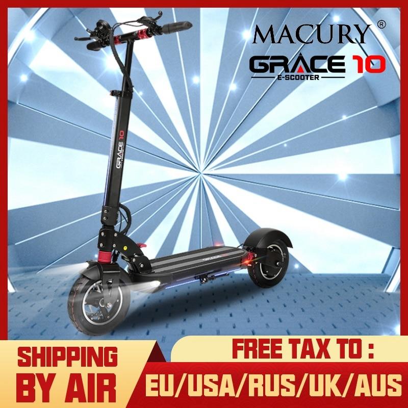 Macury GRACE10 electric scooter GRACE 10 hoverboard skateboard 2 wheel 10 inch 52V1000W adult Zero 10 mini foldable ZERO10