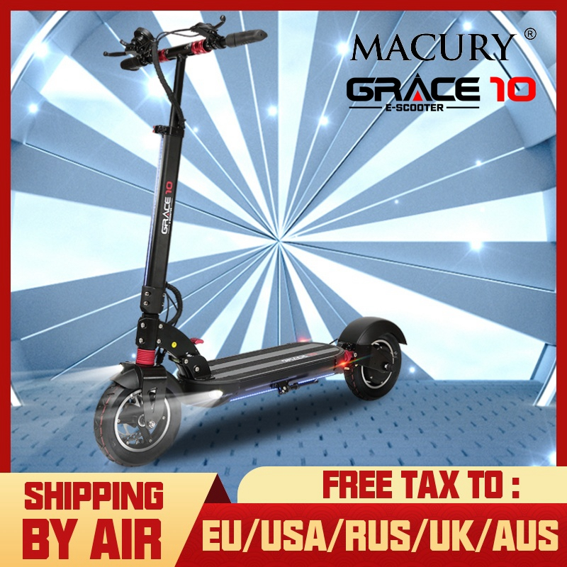 Macury GRACE10 scooter Eléctrico GRACE 10 monopatín hoverboard 2 ruedas 10 pulgadas adult adulto cero 10 mini plegable ZERO10