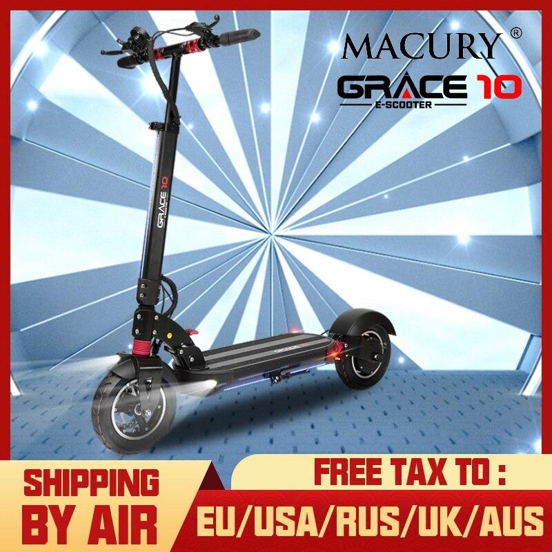 Macury graci10 scooter elétrico graça 10 hoverboard skate 2 roda 10 polegada 52v1000w adulto zero 10 mini dobrável zero10