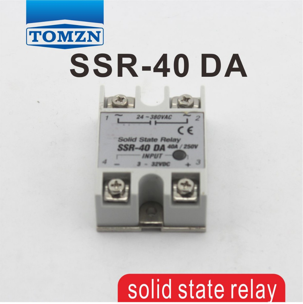 Hot Sale 40da Ssr Input 3 32v Dc Load 24 380v Ac Single Phase Solid State Relay For