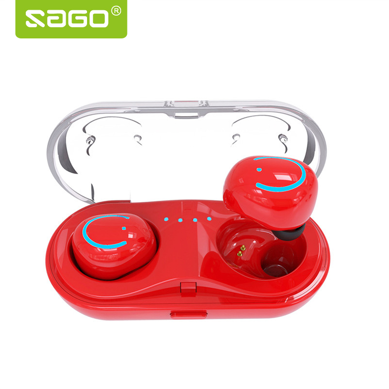 SAGO Q18 TWS Wireles Earphones Portable Bluethooes Earbuds In-Ear Sweatproof Sport Earbuds 5-6h working time for Android,iPhone