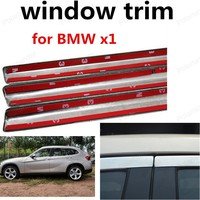 hot sell Car Styling Stainless steel window trim Decoration Strip For BMW x1 Car Exterior Accessories without column|window trim|stainless steel windowcar window trim -