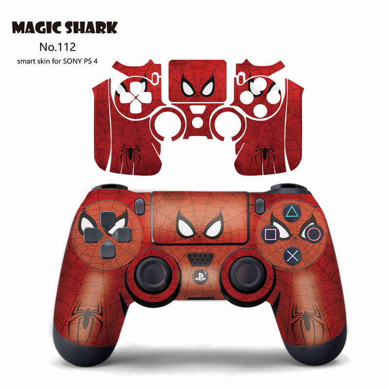 Magic Hiu Crayon Shinchan Spider Man untuk PS4 Controller Touch Pad Vinyl Stiker Kulit untuk Sony PlayStation 4 Cover 111 -130