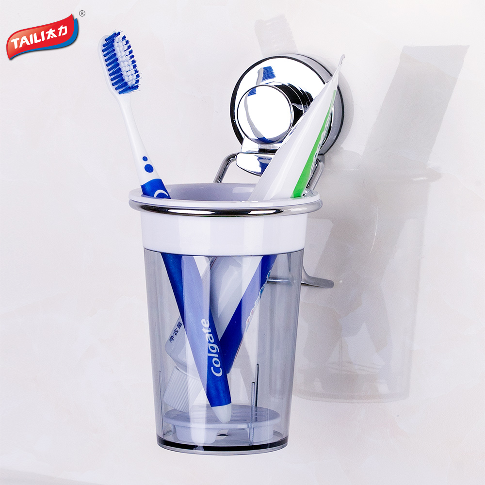 Chrome toothbrush holder suction hook free shipping for Chrome bathroom accessories
