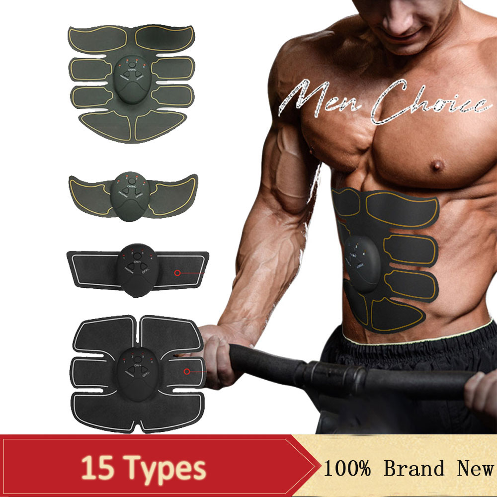 EMS Abdominal Muscle Trainer Slimming Exercisel Stimulator Fitness Massage Machine Arm Hip Training Gym Equipment 6 Modes Unisex
