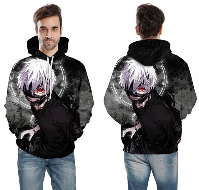 Tokyo Ghoul Kaneki Ken 3D Hoodie Sweatshirts