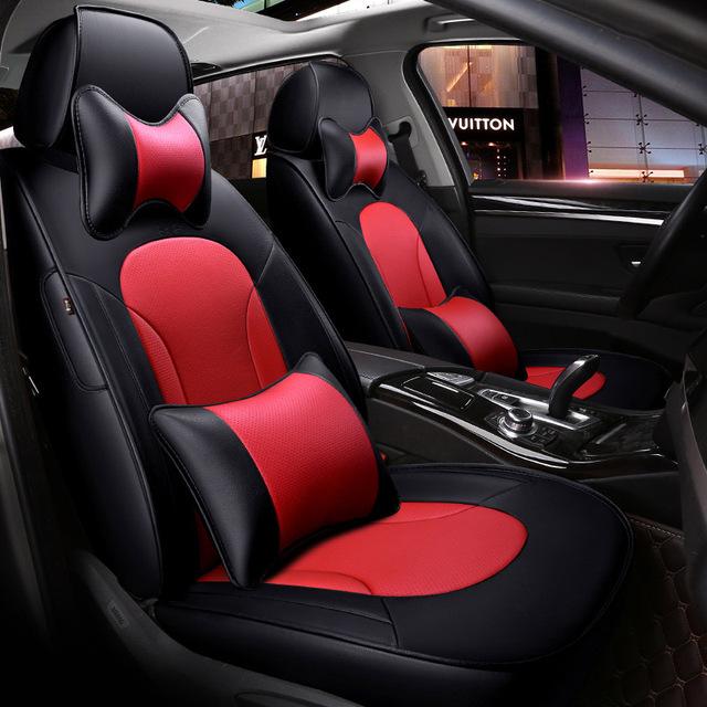 Funda de cuero para asiento de coche para Hyundai IX35 IX25 Sonata Santafe Tucson ELANTRA Accent Verna I30 accesorios de coche estilo