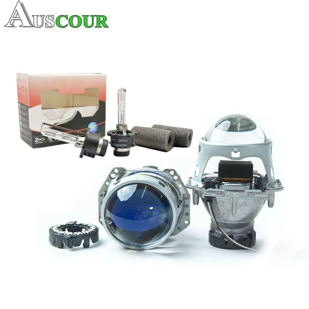 3.0 pouces car styling hid bixenon projecteur lentille hella 5 led jour drl ange yeux masque xenon kit D1S d2S D3S D4S LHD type