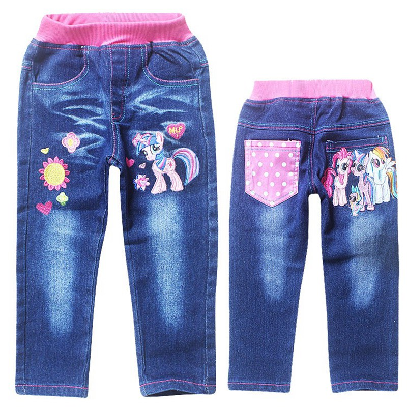 little pony jeans for baby girls kids blue washed mid