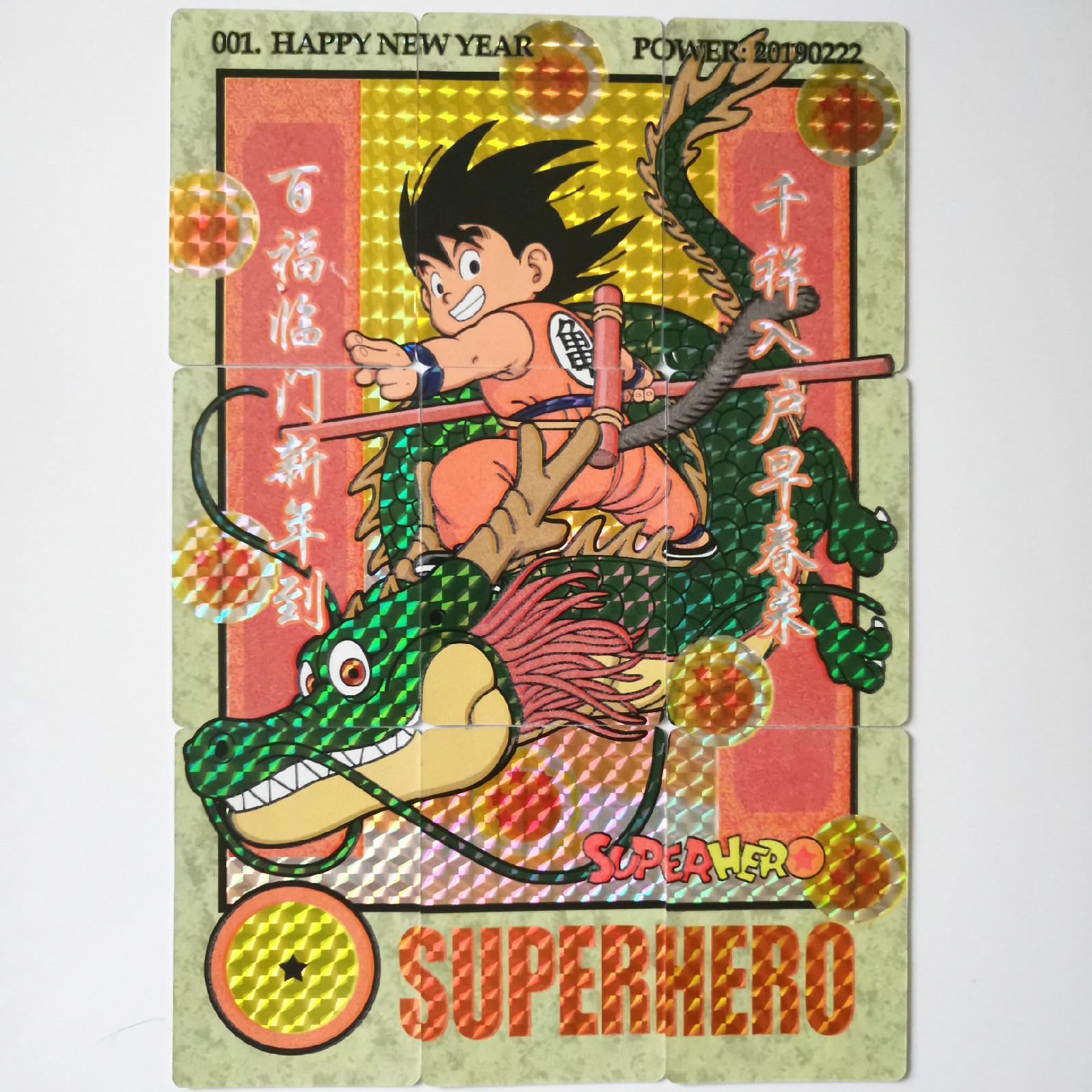 10 Teile/satz Super Dragon Ball Z Heroes Schlacht Karte Neue Jahr Goku Luminous Super Spiel Sammlung Karten