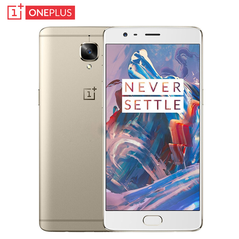 Original Oneplus 3 Mobile Phone 6GB RAM 64GB ROM Snapdragon 820 Quad Core 5.5 inch HD 16.0MP 3000mAh Android 6.0 LTE Fingerprint