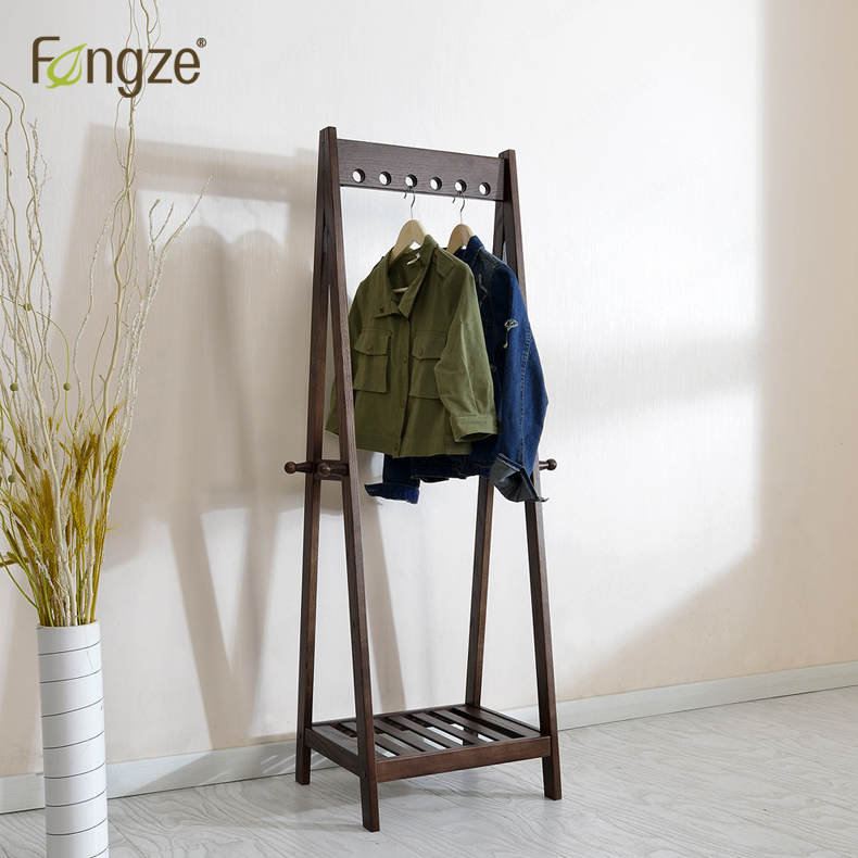 FengZe Furnishing FZ906 Modern Simplicity Hat Rack Solid oak&birch Hall Living Standing Hanger Scarves Hats Bags Clothes Shelf купить