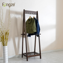 Furniture - Home Furniture - FengZe Furnishing FZ906 Modern Simplicity Hat Rack Solid Oak&birch Hall Living Standing Hanger Scarves Hats Bags Clothes Shelf