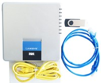 Free Shipping Unlocked Linksys SPA400 IP PBX Internet 4 Ports FXO Voicemail VoIP Phone Adapter