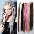 "22"" New Soft Faux Locs Solid Color Dread Lock Hair Crochet Dreadlocks Hair Kanekalon Synthetic Havana Mambo Twist Crochet Hair"