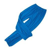 yoga pants Loose Modal bloomers pants home tai chi harem joggers sweat Pants both men and women-Lake Blue,L